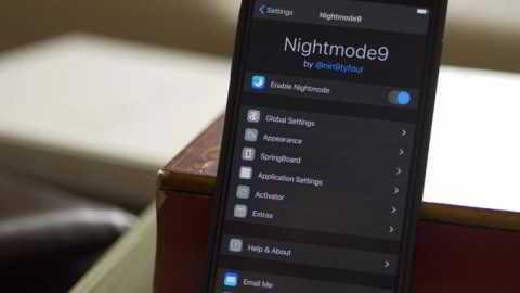 Твик Nightmode9 включает в iOS 9 «ночной режим»